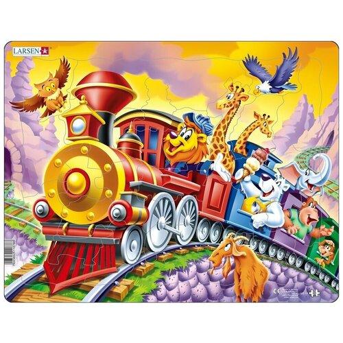 Фото - Рамка-вкладыш Larsen Поезд с цирком (US14), 30 дет. рамка вкладыш larsen азбука ls8 30 дет