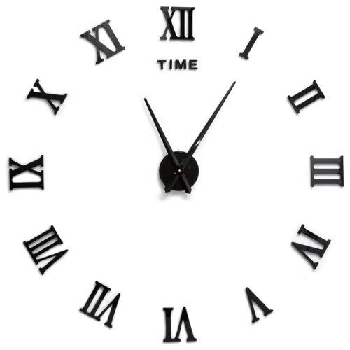 Часы настенные кварцевые 3D Decor Rome Wall Standart 100 см черный
