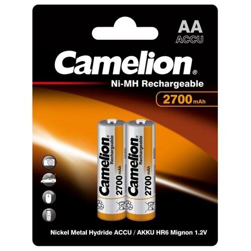 Фото - Аккумулятор Ni-Mh 2700 мА·ч Camelion NH-AA2700, 2 шт. аккумулятор ni mh 2500 ма·ч camelion nh aa2500 2 шт