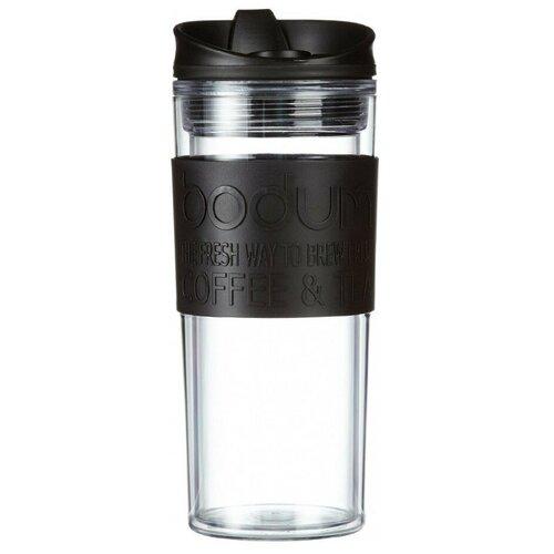 Термокружка Bodum Travel Mug, clip, 0.35 л черный