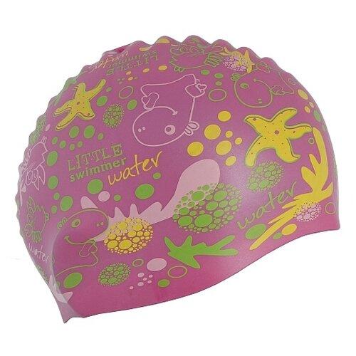 Шапочка для плавания Larsen LSC11 розовый с принтом шапочка для плавания nabaiji шапочка для плавания тканевая с принтом размер l черно–зеленая