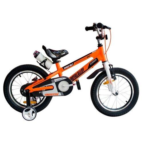 Детский велосипед Royal Baby RB16-17 Freestyle Space №1 Alloy Alu 16 оранжевый (требует финальной сборки) двухколесные велосипеды royal baby freestyle space 1 alloy 14