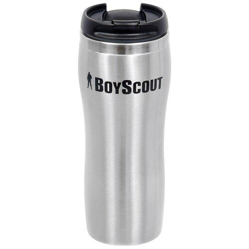 Термокружка BOYSCOUT 61050, 0.43 л стальной/черный