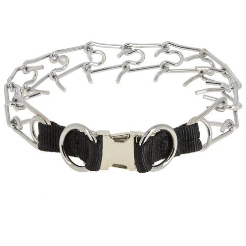 Строгий ошейник КАСКАД Профи (07555351), 59 см серебристый / черный