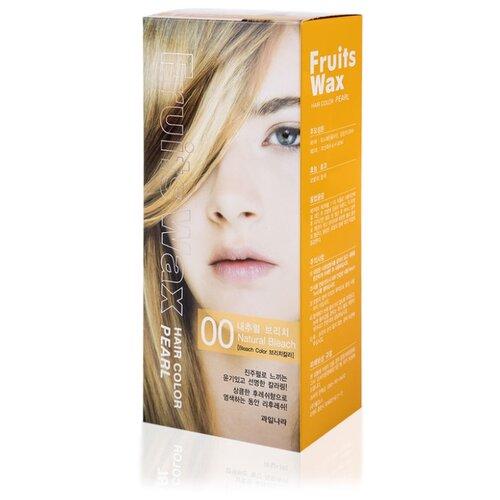 Купить Welcos стойкая крем-краска для волос Fruits Wax Pearl Hair Color, 00 natural bleach