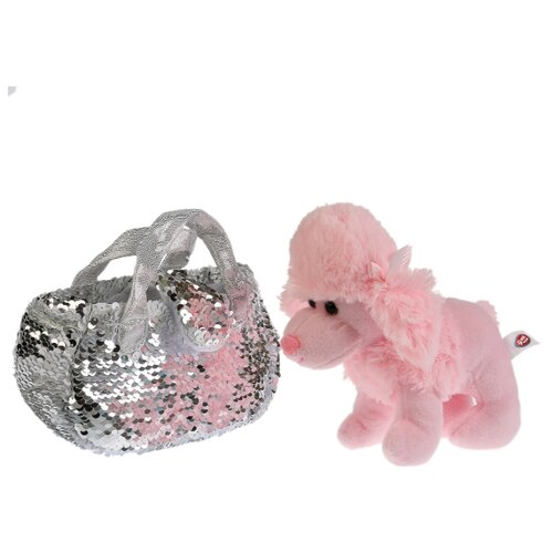 Купить Мягкая игрушка собака 15см в сумочке из пайеток серебро, в пак. (русс. уп.) Мой питомец , Мягкие игрушки