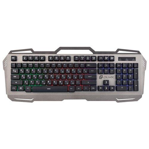 Игровая клавиатура OKLICK 747G Frozen Grey USB