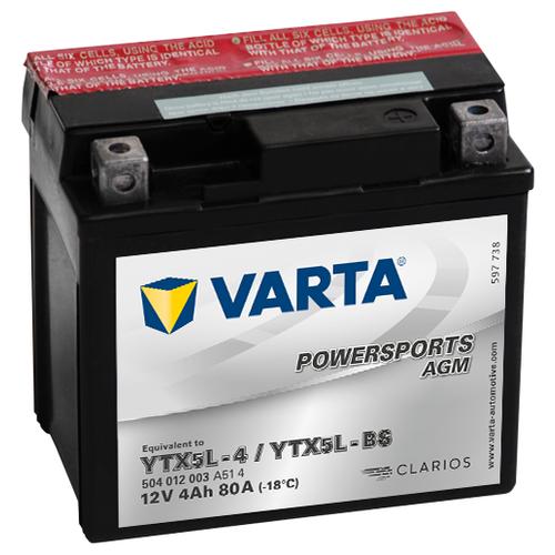 цена на Мото аккумулятор VARTA Powersports AGM (504 012 003)