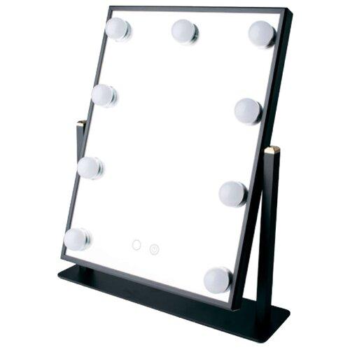 Зеркало косметическое настольное GESS uLike Maestro с подсветкой черный