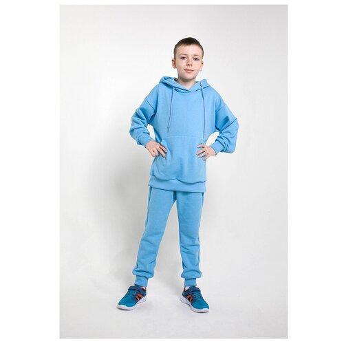 Детский спортивный костюм, голубой, р. 152