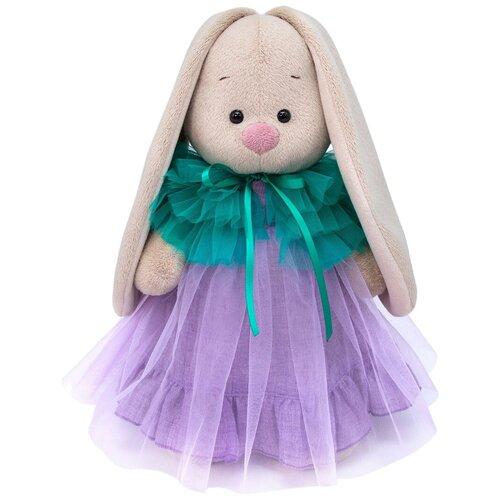 Мягкая игрушка Зайка Ми в платье с пелериной 25 см мягкая игрушка зайка ми в платье в стиле кантри 25 см