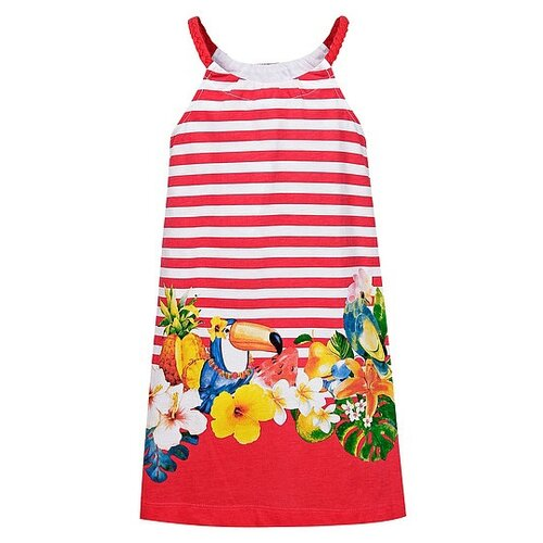 Купить Сарафан Mayoral размер 122, красный/белый, Платья и сарафаны