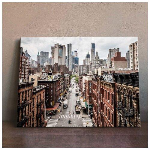 Картина Округ Нью-Йорка 50х70 см. синтетический холст