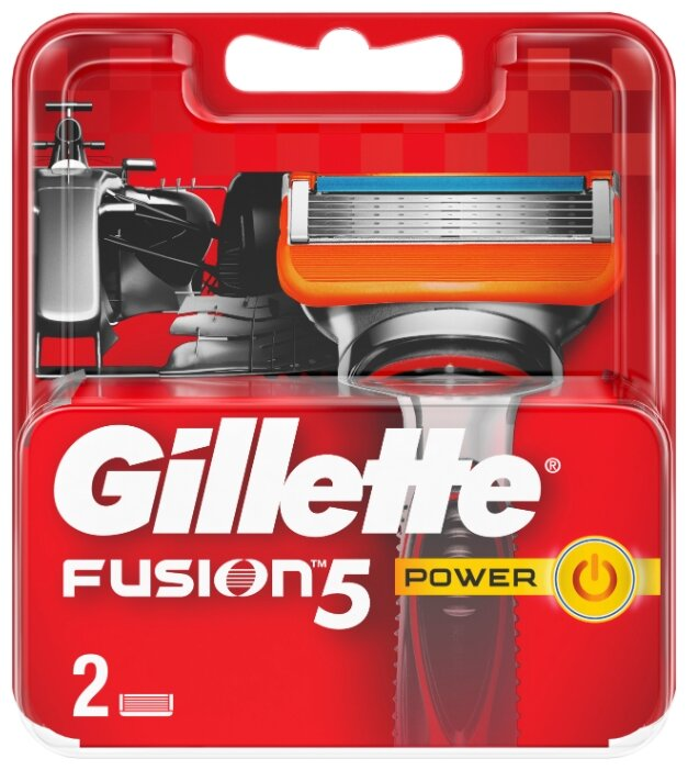Купить Сменные кассеты Gillette Fusion5 Power, 2 шт. по низкой цене с доставкой из Яндекс.Маркета (бывший Беру)