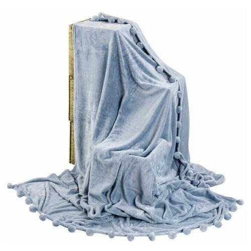 Фото - Плед EL CASA с помпонами 150 х 200 см, серо-голубой система хранения el casa el casa mp002xu0dype