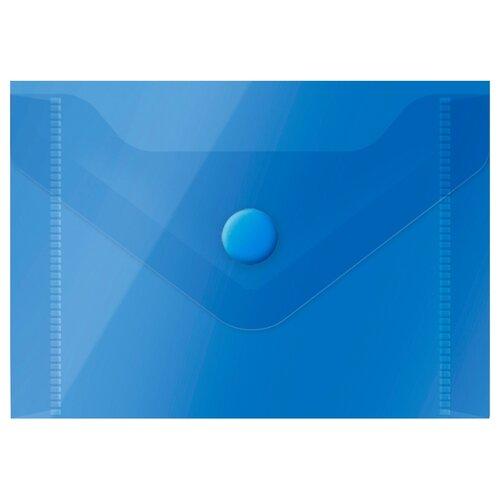 Купить OfficeSpace Папка-конверт на кнопке А7, пластик 150 мкм синий, Файлы и папки