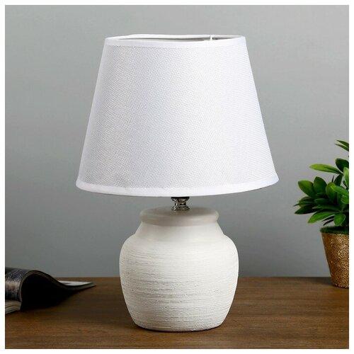 Лампа декоративная RISALUX Авейро 4301231, E27, 40 Вт, цвет арматуры: белый, цвет плафона/абажура: белый