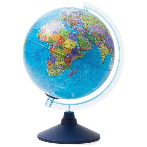 Интерактивный глобус Земли политический 32см., с подсветкой от батареек + Развивающий атлас