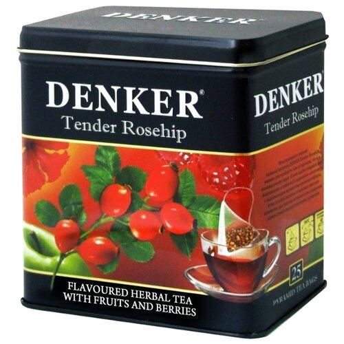 Чайный напиток красный Denker Tender rosehip в пирамидках , 25 шт. denker mellow citrus черный чай в пирамидках 25 шт