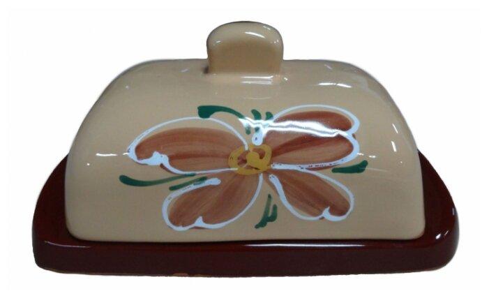 Масленка с крышкой Борисовская керамика
