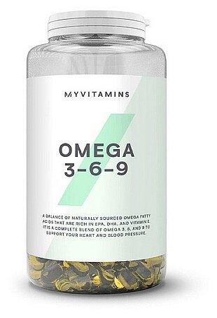 Купить Омега жирные кислоты Myprotein Omega 3-6-9 (120 капсул) нейтральный по низкой цене с доставкой из Яндекс.Маркета