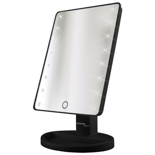 Фото - Зеркало косметическое настольное Scarlett SC-MM308L05 с подсветкой черный зеркало косметическое настольное planta plm 1725 copper с подсветкой медный никель