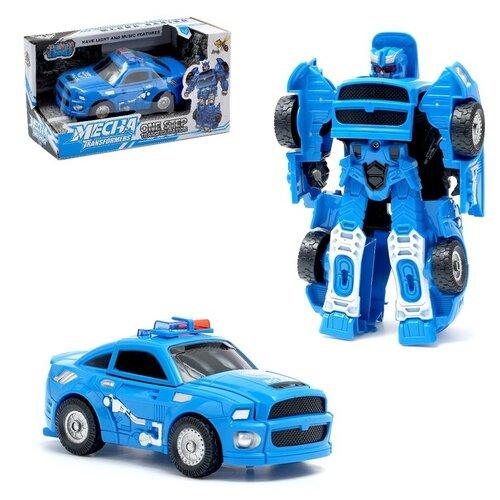 Купить Робот-трансформер DADE TOYS Полицейский , свет и звук, Роботы и трансформеры