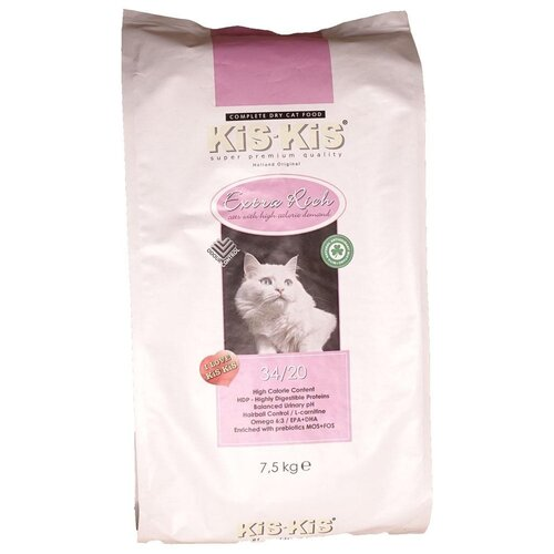 Сухой корм для кошек Kis-kis с курицей 7.5 кг kis kis сухой корм kis kis indoor для взрослых стерилизованных кошек проживающих в помещении 500 г