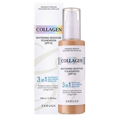 Enough Тональный крем Collagen Whitening Moisture Foundation, 100 мл, оттенок: тон №13 корейская косметика enough collagen