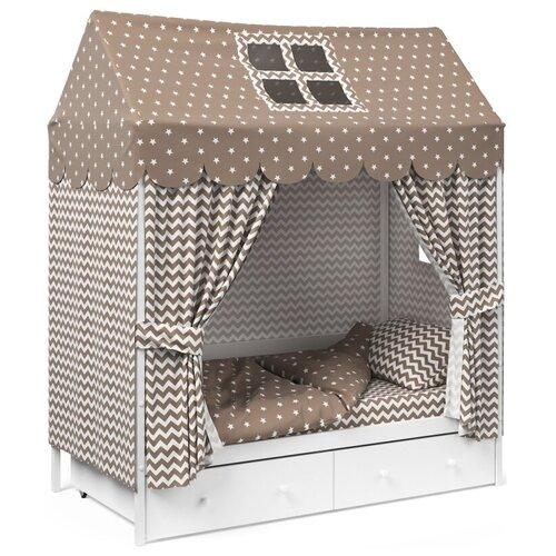 Детское постельное белье Капризун домик Кофе комплекты в кроватку капризун домик 11 предметов