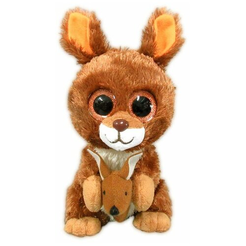 Мягкая игрушка Yangzhou Kingstone Toys Кенгурёнок коричневый 15 см