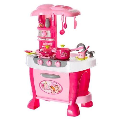 Кухня Xing Cheng 008-801/008-801A розовый/белый/серый