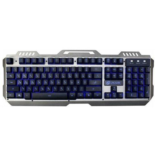 Игровая клавиатура OKLICK 790G Iron Force Grey-Black USB