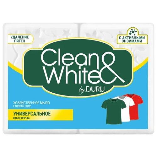Хозяйственное мыло DURU Сlean & White универсальное 0.25 кг