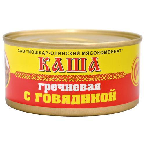 цена на Йошкар-Олинский мясокомбинат Каша гречневая с говядиной 325 г