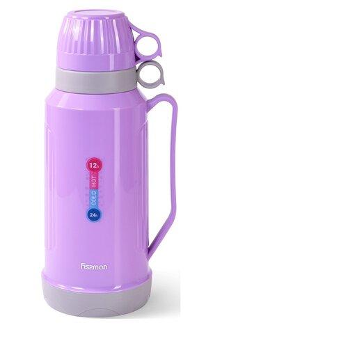 Термоc Fissman 1800мл Фиолетовый (пластиковый корпус со стеклянной колбой) (9841)