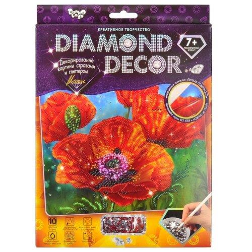 Купить Danko Toys Набор алмазной вышивки Diamond Decor Маки (DD-01-04) 20x25 см, Алмазная вышивка