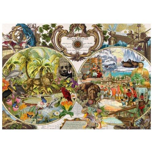 Фото - Пазл Schmidt Экзотическая карта мира (58362), 2000 дет. пазл schmidt цветочные сердца 58327 2000 дет