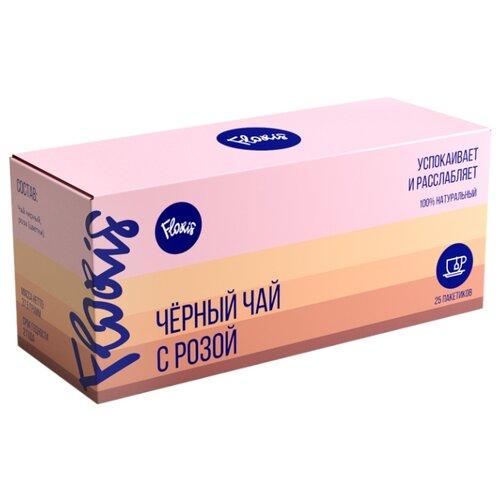Чай черный Floris с розой в пакетиках , 25 шт.