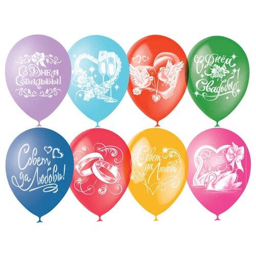 товары для праздника поиск воздушные шары свадебная тематика 50 шт Набор воздушных шаров МФ ПОИСК Свадебная тематика (50 шт.)