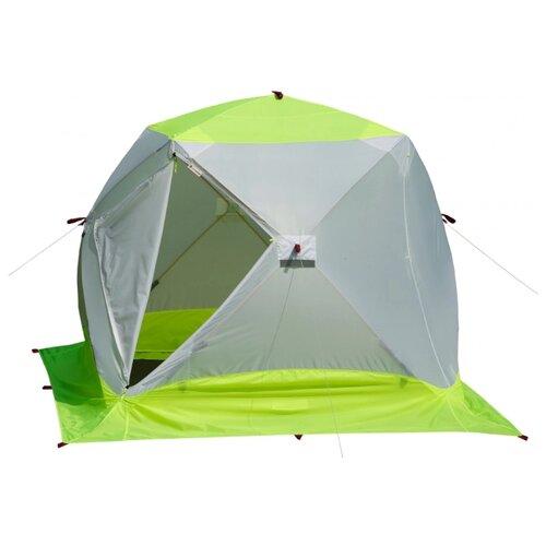 Палатка ЛОТОС Куб 3 Компакт ЭКО белый/зеленый