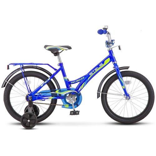 Детский велосипед STELS Talisman 18 Z010 (2020) синий (требует финальной сборки) детский велосипед stels jet 14 z010 2018 белый синий 8 5 требует финальной сборки