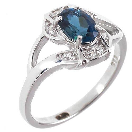 Фото - Balex Кольцо 1405936457 из серебра 925 пробы с топазом Лондон и фианитом, размер 17 element47 кольцо из серебра 925 пробы с топазами лондон r32560h 7 ko lt wg размер 17 25