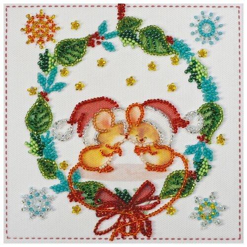 Купить ABRIS ART Набор для вышивания бисером Поцелуйчики 15 х 15 см (AM-213), Наборы для вышивания