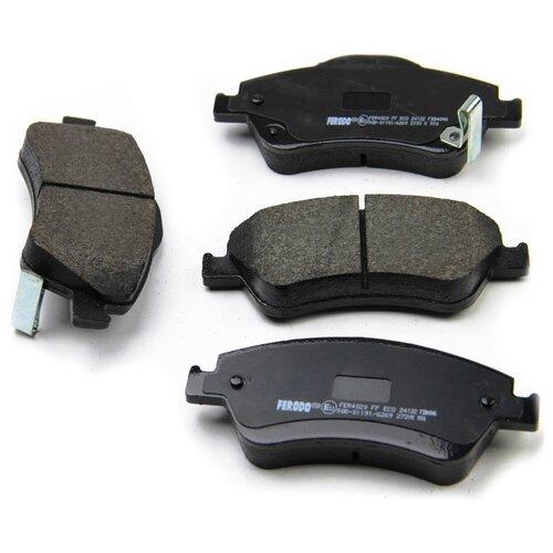 Фото - Дисковые тормозные колодки передние Ferodo FDB4046 для Toyota Aurion, Toyota Corolla (4 шт.) дисковые тормозные колодки передние ferodo fdb1639 для toyota subaru 4 шт
