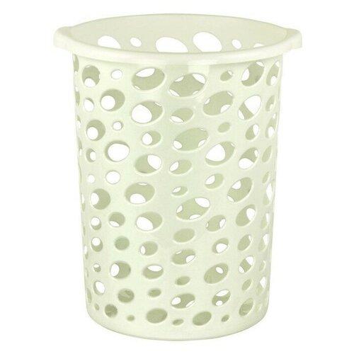 Корзина для мусора Сорренто, белая, 12 литров корзина для мусора сорренто 12л серый м2055 башкирия