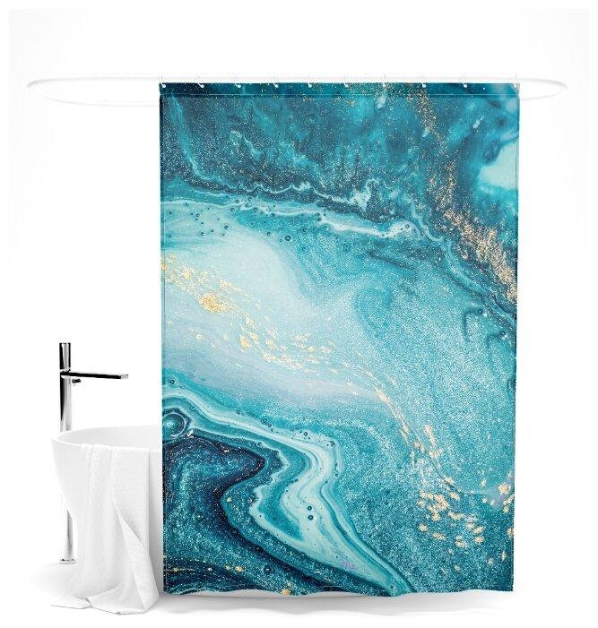 """Купить Шторка для ванной """"Голубая бездна"""", 145х180 см по низкой цене с доставкой из Яндекс.Маркета"""