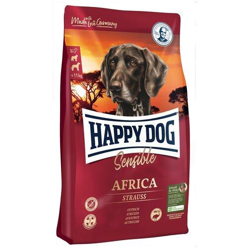 Сухой корм для собак Happy Dog Supreme Sensible, для здоровья кожи и шерсти, при чувствительном пищеварении, страус, с картофелем 2.8 кг (для средних и крупных пород) корм сухой happy dog тоскана для собак средних и крупных пород с уткой и лососем 4 кг