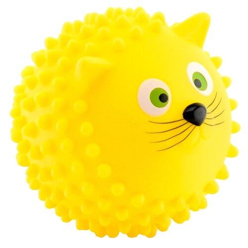 Купить Игрушка для ванной Играем вместе Мячик-кот (LX-SB09) желтый, Игрушки для ванной