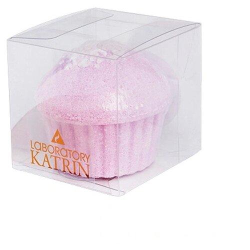 Купить Шипучая соль для ванн Laboratory KATRIN Маффин Лавандовый Сахар 130 г, Лаборатория Катрин